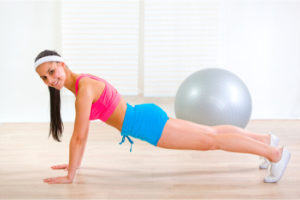 proper stating point of push up
